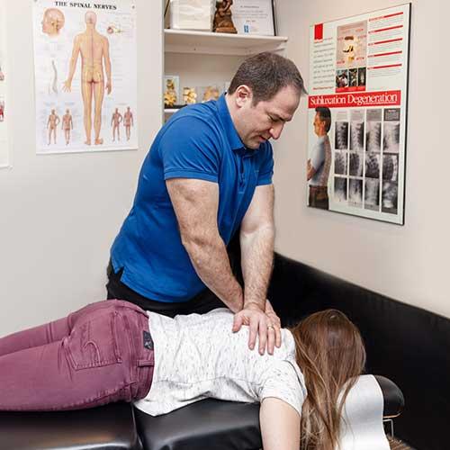 North York Chiropractic Dr Rodney Back Adjustment